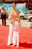 Eva La Rue and her daughter Kaya at the World Premiere of 'G-Force'. El Capitan Theatre, Hollywood,