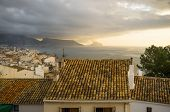 image of costa blanca  - Altea resort rooftops on a stormy morning Costa Blanca Spain - JPG