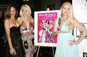 Donna Spangler with Brittan Taylor and Allie Moss  at the West Coast Premiere of 'Space Girls in Bev