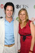 Rob Morrow and Debbon Ayer at the CBS, CW and Showtime All-Star Party. Huntington Library, Pasadena,