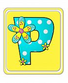 image of letter p  - The letter P in the alphabet set  - JPG