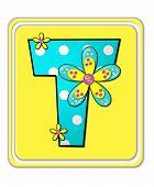 Alphabet Bright Begonia T