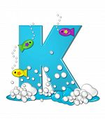 foto of letter k  - The letter K in the alphabet set  - JPG