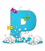picture of letter p  - The letter P in the alphabet set  - JPG