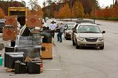 County Residents Drop Off Items For Recycling Event