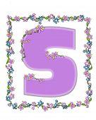 Alphabet Daisy Fair Lilac S