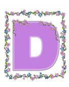 Alphabet Daisy Fair Lilac D