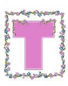 Alphabet Daisy Fair Pink T