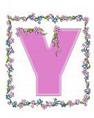 Alphabet Daisy Fair Pink Y
