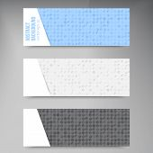 Vector Abstract banners. Circles white and