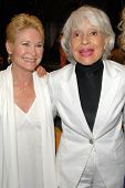 Dee Wallace Stone and Carol Channing at the Los Angeles Premiere of 'Gotta Dance'. Linwood Dunn Thea