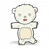 cartoon shocked polar bear cub