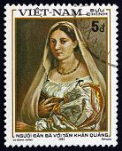 Postage Stamp Vietnam 1983 Woman With Veil, By Raphael