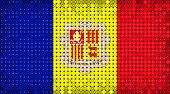 Flag Of Andorra Lighting On Led Display