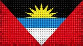 Flag Of Antigua And Barbuda Lighting On Led Display