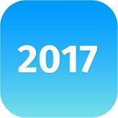 Year 2017 Blue Icon
