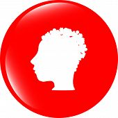 Idea People Head Circle Glossy Wen Icon
