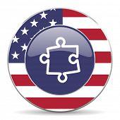 puzzle american icon
