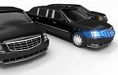 stock photo of limousine  - Luxury Limos Rental Concept Illustration - JPG