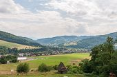 stock photo of zar  - Glider airfield at the foot of Zar mountain in the mountain range of Little Beskids - JPG