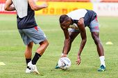 Sisaket Thailand-june 29: Kalifa Cisse Of Bangkok Utd. In Action During A Training Ahead Thai Premie