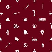 stock photo of fire brigade  - fire brigade red and white seamless pattern eps10 - JPG