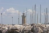 the port of Desenzano, Garda lake