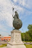 Statue Of St Demetrius Of Thessaloniki  In Dmitrov, Russia