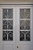 White Door Metal Pattern