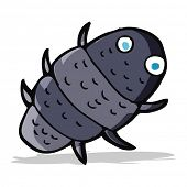 foto of woodlouse  - cartoon bug - JPG