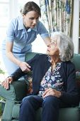 Care Worker Mistreating Senior Woman
