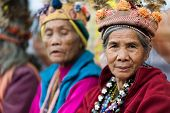 BANAUE, PHILIPPINES, DECEMBER 03 : Portrait of senior Filipino woman of Ifugao mountain tribes in Ba