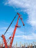 Cargo Crane In The Port