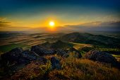 landscape at sunset/sunrise - Pricopane, Dobrogea, Romania