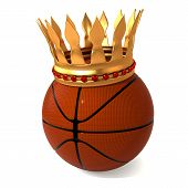 basketball and gold crown