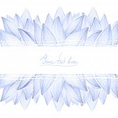 Blue lotus petals design card
