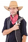Cowboy isolated on the white background