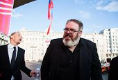 MOSCOW - JUNE, 19: Actor Kristian Nairn (Hodor, Game of Trones) 36th Moscow International Film Festi
