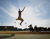 Long Jump Woman Sky