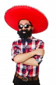picture of hirsutes  - Funny mexican with sombrero hat - JPG
