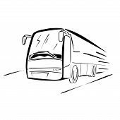 stock photo of motor-bus  - Vector illustration  - JPG