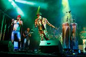 LOULE - JUNE 28: Jupiter and Okwess International a traditional music band from Rep. Dem. Congo perf