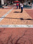 Atlanta, Ga, Usa, March 5, 2014 - Bricks Engraved With Short Messages Of Donors At Centennial Olympi