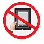 No tablet sign