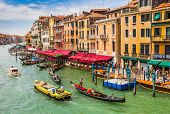 View Of The Grand Canal From The Rialto Bridge