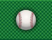 Baseball Illustration On A Green Checkered Background