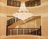 Beautiful Crystal Chandelier In A Roombeautiful Crystal Chandelier