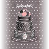 Greeting Card. Wedding Card. Wedding Invitation. Holiday Cake.