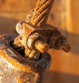 Rusty And A Rope In Sunlight