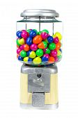 picture of gumball machine  - Vintage Eggs Slot Machine isolate on White Background  - JPG